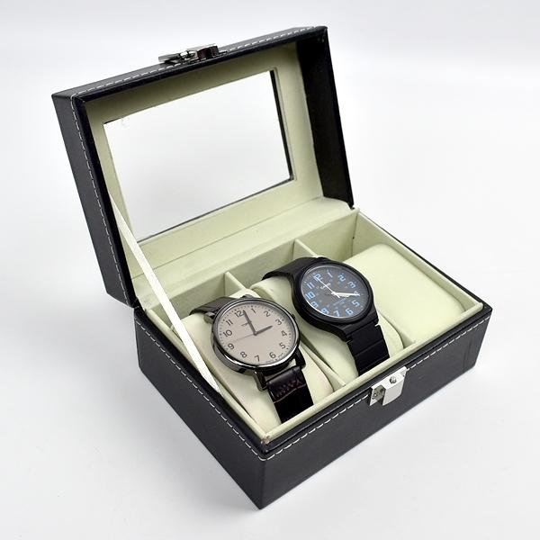 手錶盒 質感皮革收納盒(3支裝)【NAWA25】