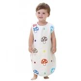 嬰兒睡袋夏季薄款純棉紗布寶寶背心睡袋兒童空調房防踢被春秋四季-