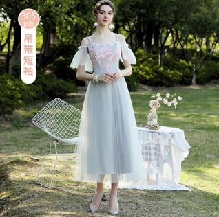 伴娘服 2021新款長款平時可穿大碼姊妹姐妹裙平時可穿春裝女【快速出貨八折優惠】