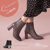 靴.內磨毛鏡面高跟短靴-FM時尚美鞋-Queena聯名款.Winter