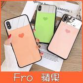 蘋果 iPhone XS MAX XR iPhoneX i8 Plus i7 Plus 糖果色鏡面愛心 手機殼 全包邊 可掛繩 保護殼