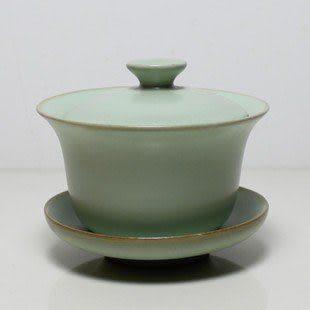 純手工龍泉青瓷蓋碗