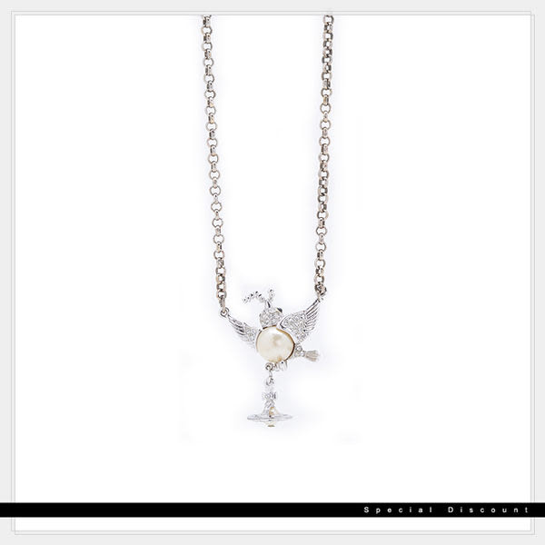 Vivienne Westwood • 絕版項鍊-小鳥+土星
