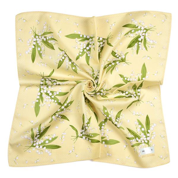 JUNKO SHIMADA幸福鈴蘭花純綿帕領巾(黃色)989019-2