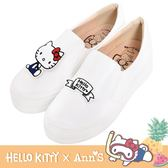 HELLO KITTY X Ann'S鳳梨可隨意交換貼布刺繡厚底懶人鞋-白