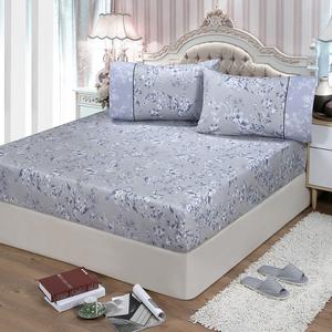 【FITNESS】精梳棉加大床包+枕套三件組-莉蒂亞(灰)