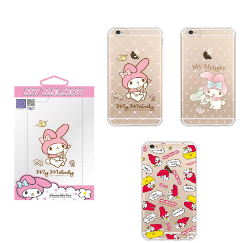 King*Shop~ 2016新版三麗鷗 HELLO KITTY 雙子星 kikilala 美樂蒂 iPhone 6 (4.7吋)保護殼 手機殼 軟套