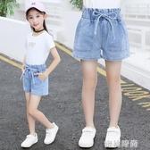 女童牛仔短褲夏季2020新款兒童洋氣夏裝中大童女孩外穿百搭熱褲薄『蜜桃時尚』