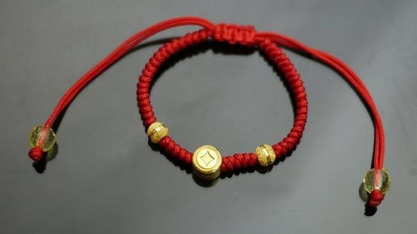 gold 黃金 彌月 金飾 童手鍊 重0.31錢[ gg 012 ]