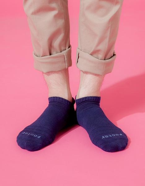【 Footer 除臭襪】X型減壓經典護足船短襪 深藍 24-27CM 男 (任選6雙960元)