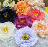 全館免運 韓版新娘牡丹布藝大花朵胸花胸針女頭花邊夾