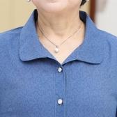 襯衫 老年人春裝60-70-80歲中袖襯衫奶奶七分袖套裝老人衣服夏季短袖衫 歐歐