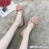 尖頭平底鞋正韓百搭時尚淺口瓢鞋豆豆鞋一腳蹬單鞋女鞋 檸檬衣捨