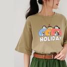 【慢。生活】Holiday印花休閒T恤 817 FREE 綠色