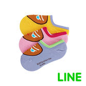 Line明星-大臉跑跑薑餅人矽膠止滑隱形襪15-24cm(共六色)