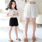 女童安全褲防走光夏季薄款保險褲兒童三分短褲雪紡寬鬆寶寶打底褲