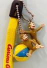 【震撼精品百貨】Curious George _好奇的喬治猴 ~日本喬治猴 手機吊飾/鑰匙圈-球#43002
