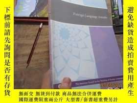 二手書博民逛書店foreign罕見language annals volume