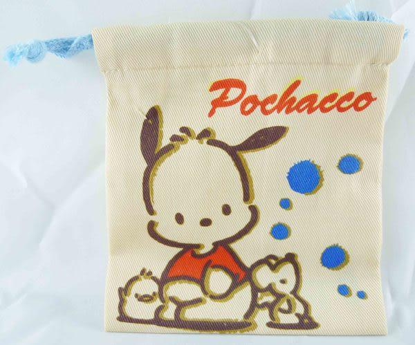 【震撼精品百貨】Pochacco 帕帢狗~束口袋縮口袋S『淺咖啡』