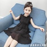 女童洋裝新款夏裝超洋氣小女孩公主裙中大童裝兒童裙子夏季 創意家居生活館