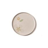 創意日式手繪餐具 8英吋平盤米色