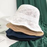 遮陽帽 日系短髮chic漁夫帽女夏天出遊防曬遮陽帽子韓版百搭可折疊太陽帽 6色
