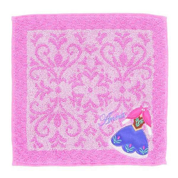 方巾 布布童鞋Disney冰雪奇緣安娜洋裝刺繡小方巾 [ 2BJ051D ]