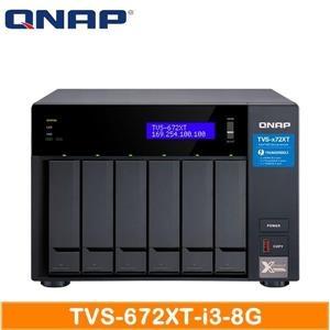 【綠蔭-免運】QNAP TVS-672XT-i3-8G 網路儲存伺服器