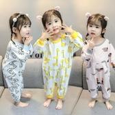 兒童睡袋 兒童睡袋春夏季薄款純棉線布寶寶分腿睡衣嬰兒防踢被 長袖空調服 薇薇
