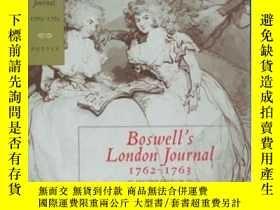 二手書博民逛書店Boswell s罕見London Journal, 1762-1763Y364682 James Boswe