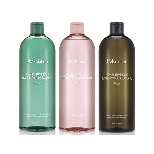 韓國 JMsolution 海洋珍珠溫和保濕/水光玫瑰/水光蜂蜜 大容量化妝水(600ml)【小三美日】