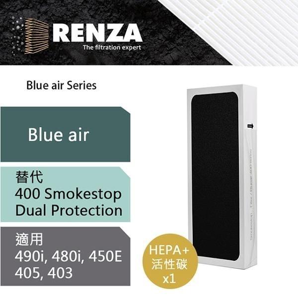 【南紡購物中心】RENZA濾網 適用Blueair 490i 480i 450E 403 405 SmokeStop 高效HEPA活性碳濾芯 耗材