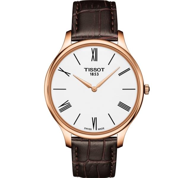 TISSOT天梭T-TRADITION超薄紳士石英錶  T0634093601800