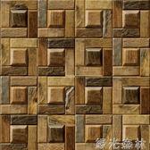 壁紙 復古懷舊木板壁紙個性木紋酒吧餐廳咖啡廳電視背景理發服裝店墻紙 綠光森林