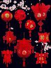 窗貼新年過節裝飾大紅DIY福字小燈籠掛件春節元旦幼兒園商場布置用品 喵小姐