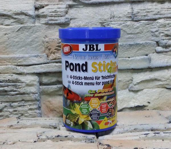 【西高地水族坊】德國JBL 池塘4合1飼料,池塘觀賞魚條狀飼料(Pond Sticks) 1公升/1L裝