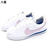 《7+1童鞋》大童 NIKE Cortez Basic SL GS 阿甘 粉嫩薰衣草紫 綁帶 慢跑鞋 G852 粉色