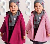 純色排釦寶寶厚外套  嬰幼兒緹花連帽大衣 SK004 好娃娃童裝