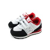 New Balance 574系列 運動鞋 跑鞋 魔鬼氈 白/黑 小童 童鞋 IV574NSB-W no575