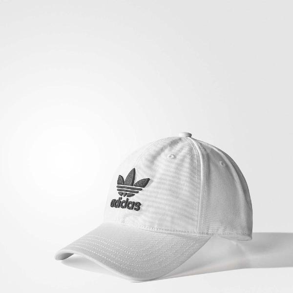 adidas 帽子 ORIGINALS TREFOIL CAP 老帽 棒球帽 經典 三葉草 基本款 男女 白黑 白 黑 【ACS】 BR9720