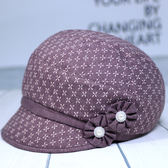 春秋中老年帽子女秋中年時裝帽媽媽布帽春秋天遮陽老人帽奶奶婆婆