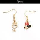【迪士尼系列】米妮蝴蝶結鑰匙不對襯垂墜耳環~夏綠蒂didi-shop