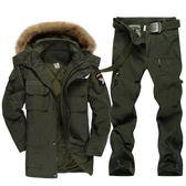 全館85折中大碼 戶外軍迷套裝男特種兵迷彩服加厚中長款棉服軍裝冬季保暖套裝 森活雜貨