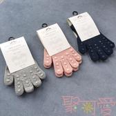 兒童分指手套棉質男女童保暖秋冬單層針織寶寶【聚可愛】
