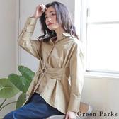 ❖ Spring ❖ 2WAY兩穿腰綁帶襯衫上衣 - Green Parks