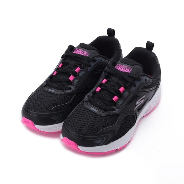 SKECHERS 慢跑系列 GO RUN CONSISTENT 寬楦綁帶運動鞋 黑粉 128075WBKPK 女鞋