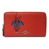 【COACH】漫威聯名蜘蛛人ㄇ型零錢袋中夾(紅)