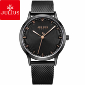 JULIUS 聚利時 刻劃旅程米蘭錶帶腕錶-黑旋風/32mm【JA-1075E】