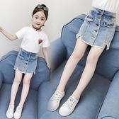 女童牛仔短褲 女童短褲夏季新款潮兒童洋氣熱褲牛仔褲外穿女孩百搭褲子夏裝-Ballet朵朵