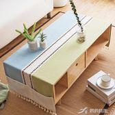 北歐風清新布藝茶幾桌布客廳現代簡約長方形餐桌布歐式電視柜蓋布 樂芙美鞋